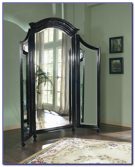 Large Tri Fold Floor Mirror