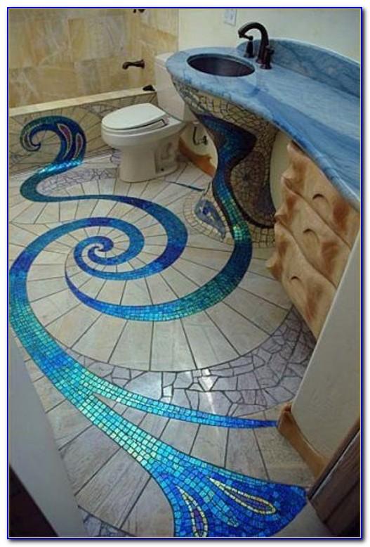 Marble Mosaic Floor Tile Bathroom
