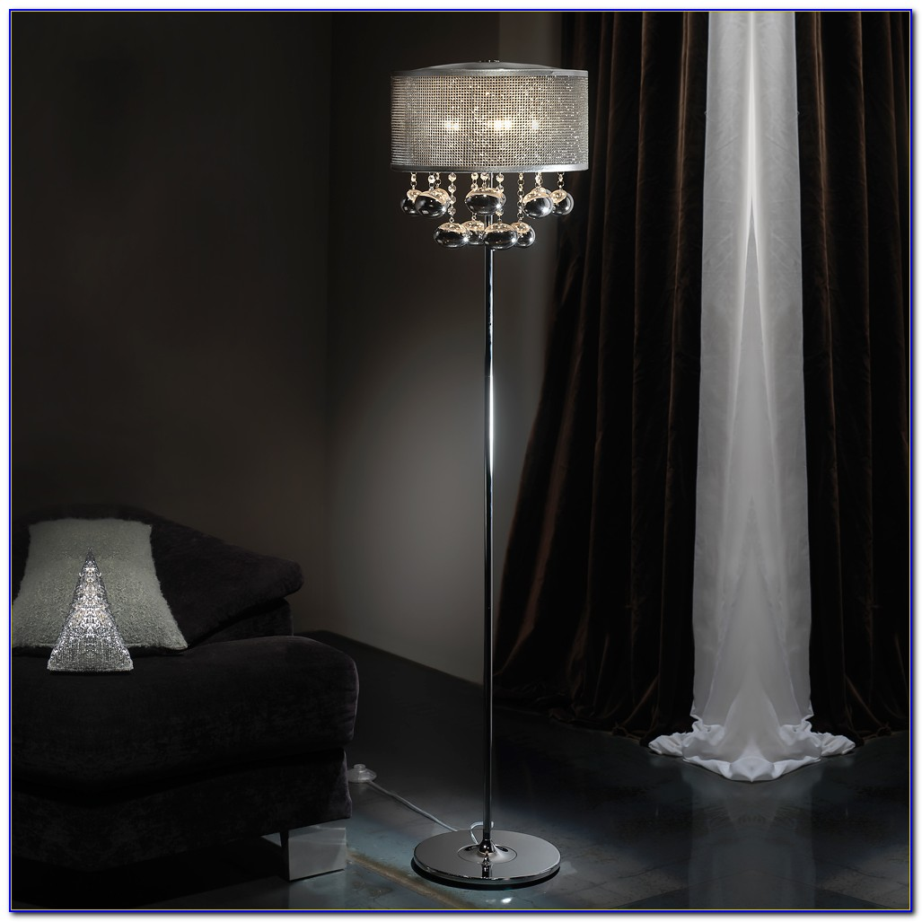 Modern Floor Lamp With Crystals
