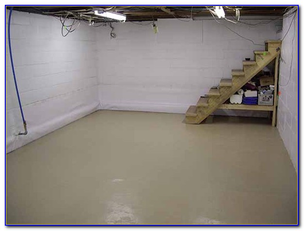 Paint Concrete Basement Floor Epoxy