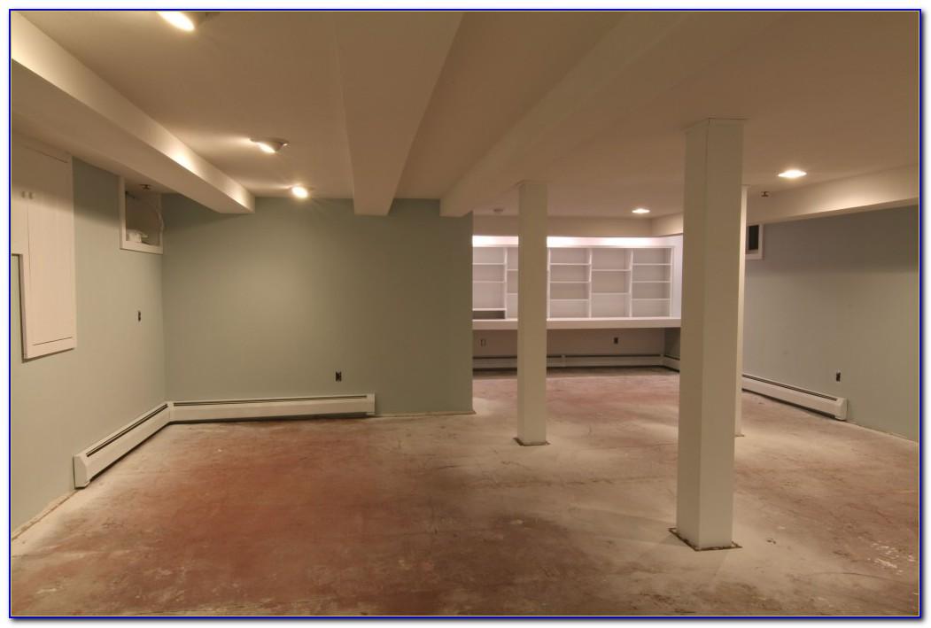 Painting Sealing Concrete Basement Floor