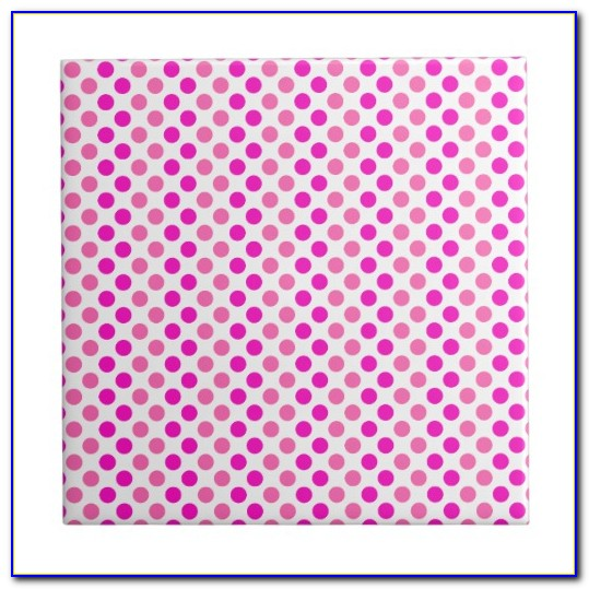 Pink Polka Dot Vinyl Flooring