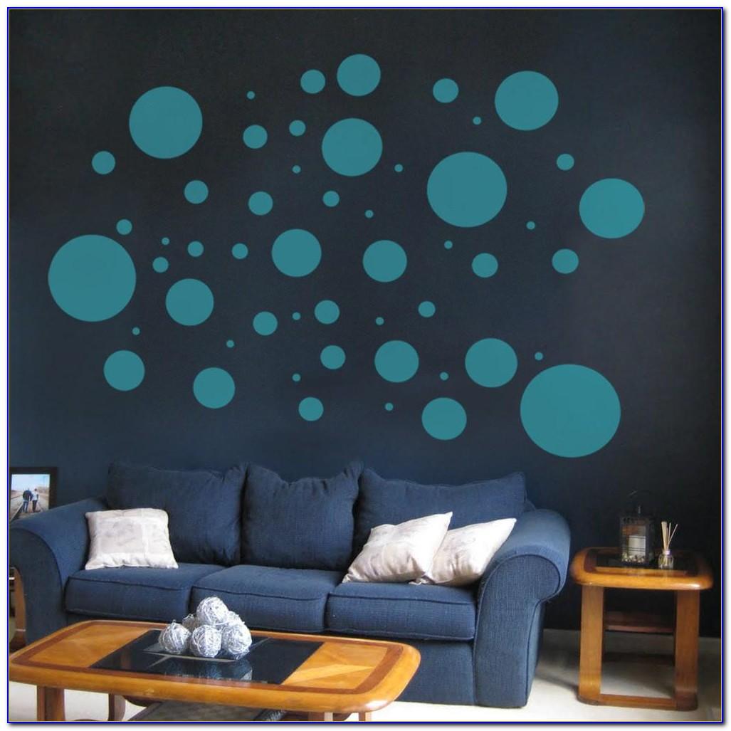 Polka Dot Vinyl Floor Tiles