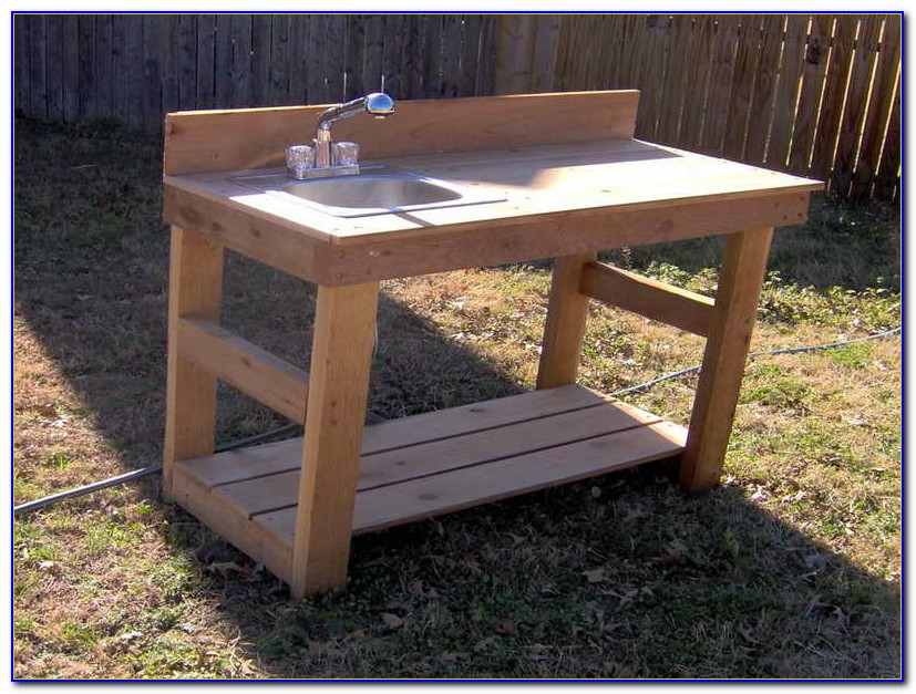 Potting Bench Plans With Sink