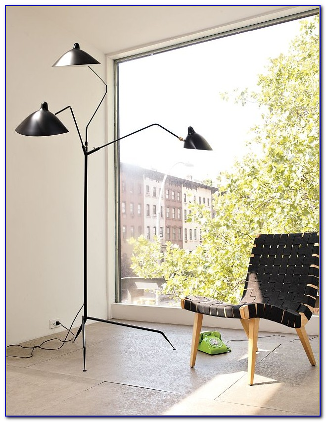 Serge Mouille 3 Arm Floor Lamp