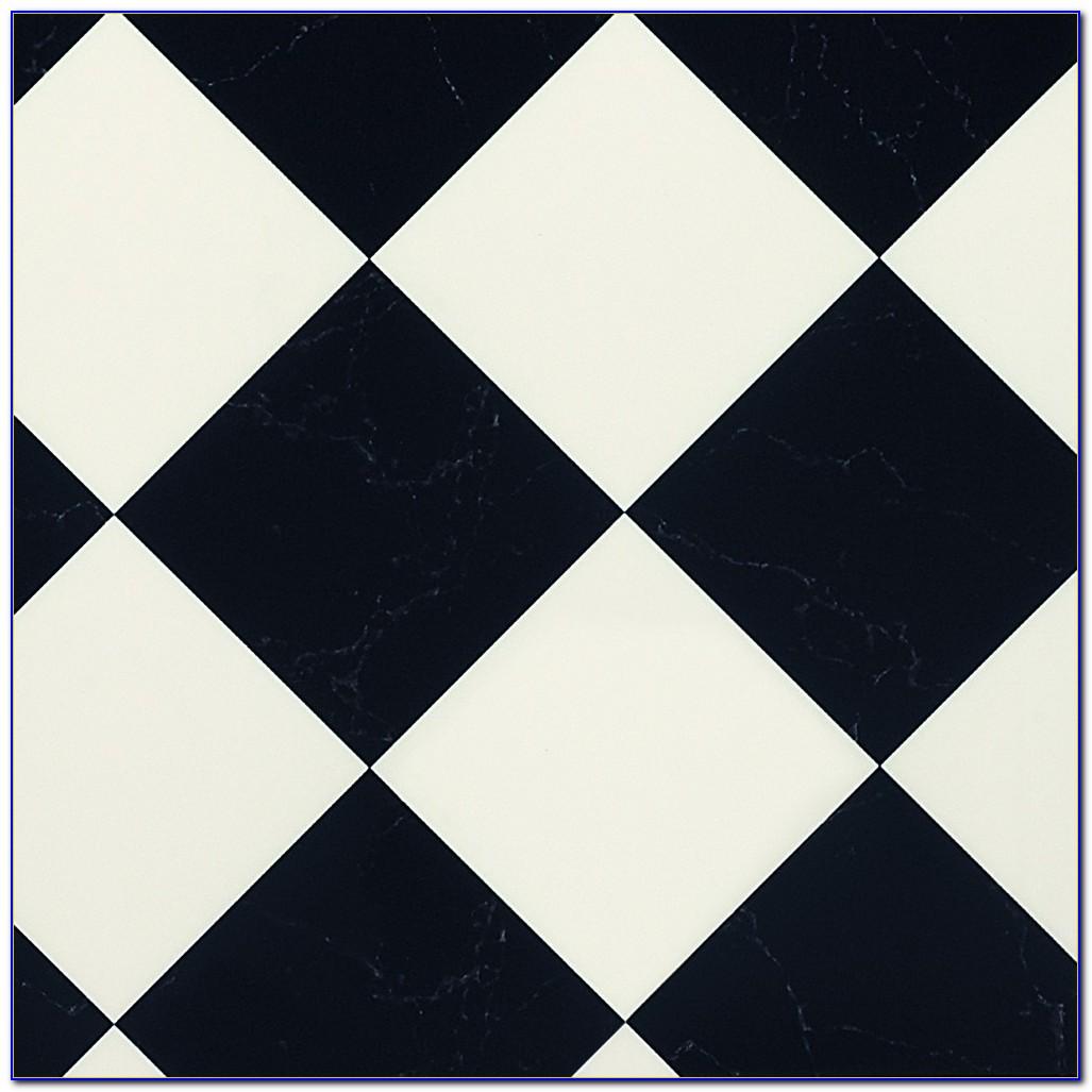 Small Black And White Checkered Vinyl Flooring