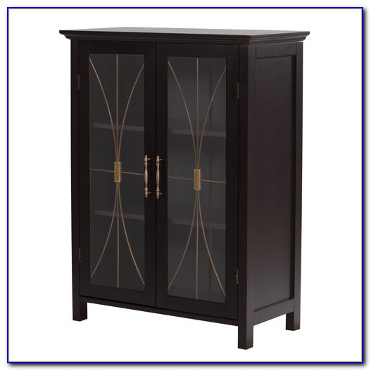 Small Floor Cabinets With Glass Doors