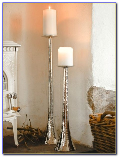 Tall Floor Pillar Candle Holders
