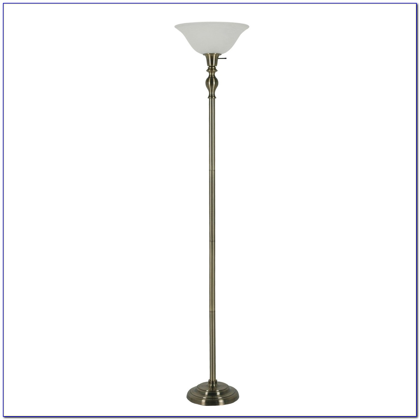 Vintage Brass Torchiere Floor Lamp
