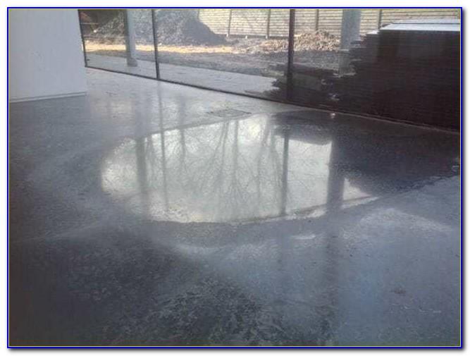 Waxing Bare Concrete Floor