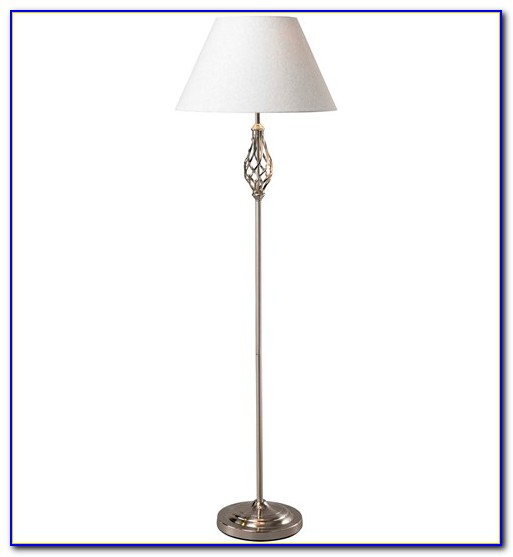 White Barley Twist Floor Lamp