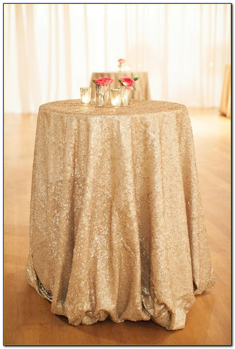 White Floor Length Tablecloths