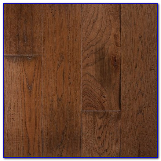 Wide Plank Distressed Hickory Flooring