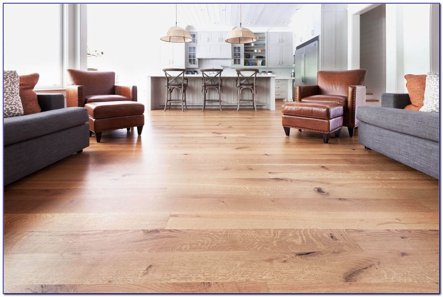 Wide Wooden Plank Flooring