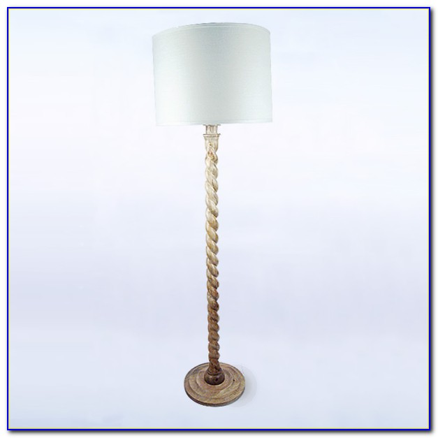 Wood Barley Twist Floor Lamp