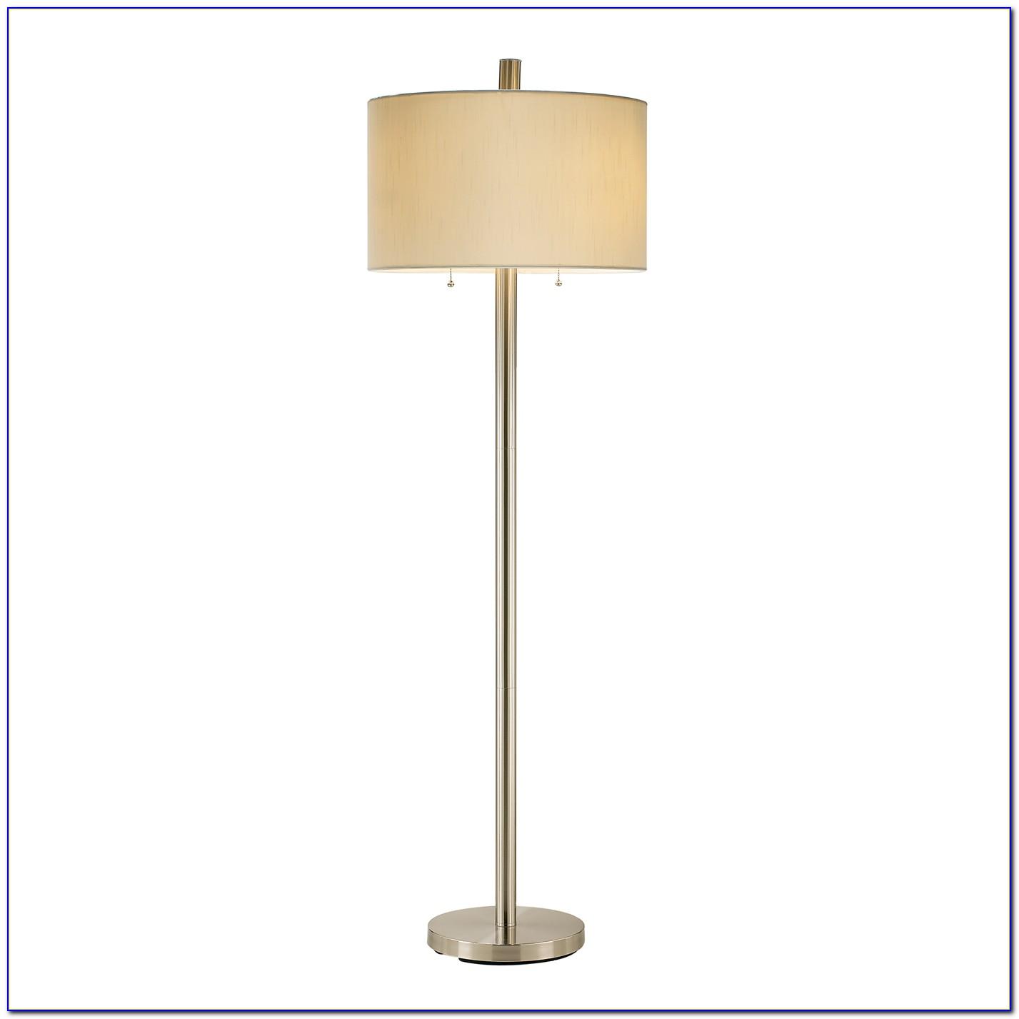 Adesso Boulevard Floor Lamp Satin Steel