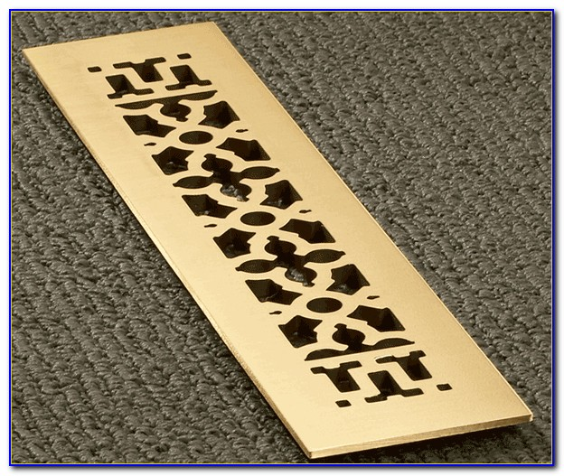 Antique Brass Floor Vent Covers