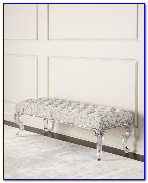 Bedroom Bench With Acrylic Legs