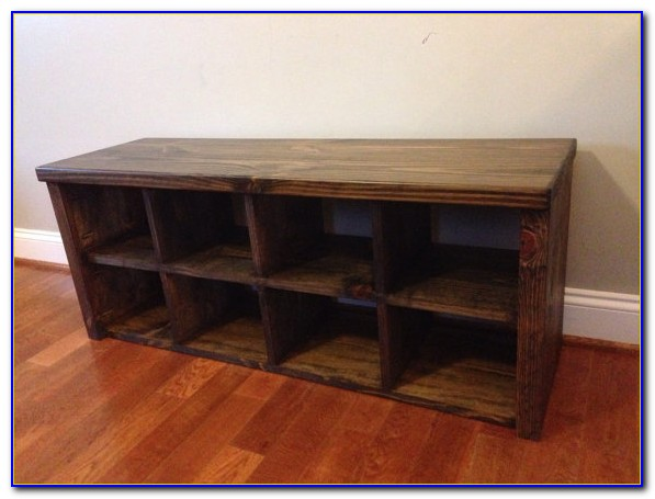 Bestar Boutique Organization Bench With Shoe Cubby In Chocolate