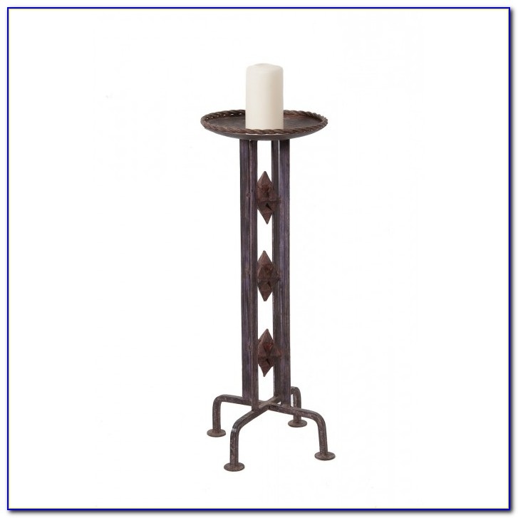 Black Metal Floor Standing Candle Holders By Collections Etc