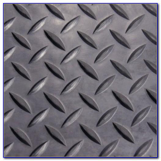 Black Vinyl Diamond Plate Flooring Roll