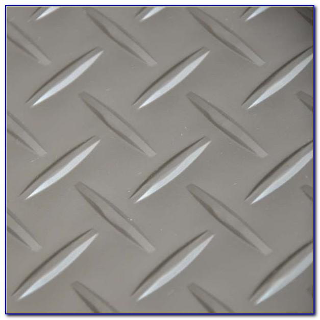 Checker Plate Vinyl Floor Tiles