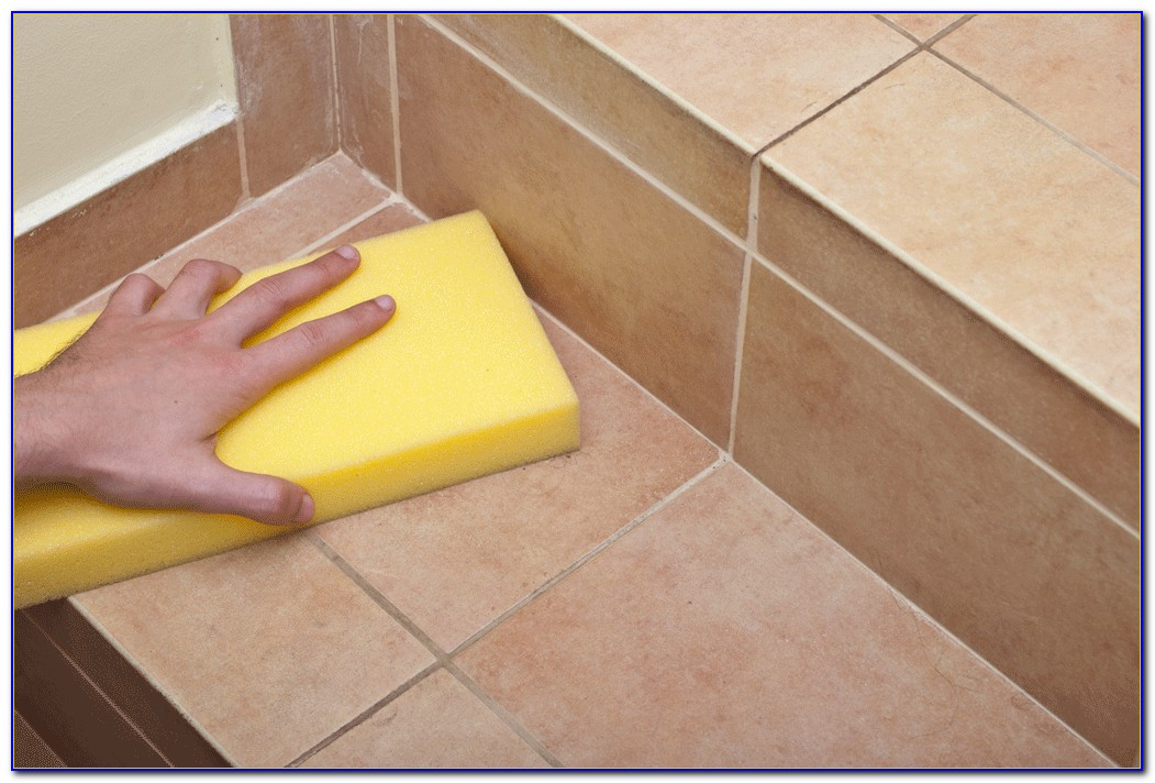Clean Floor Tile Grout Naturally