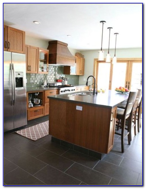 Dark Grey Tile Kitchen Floor