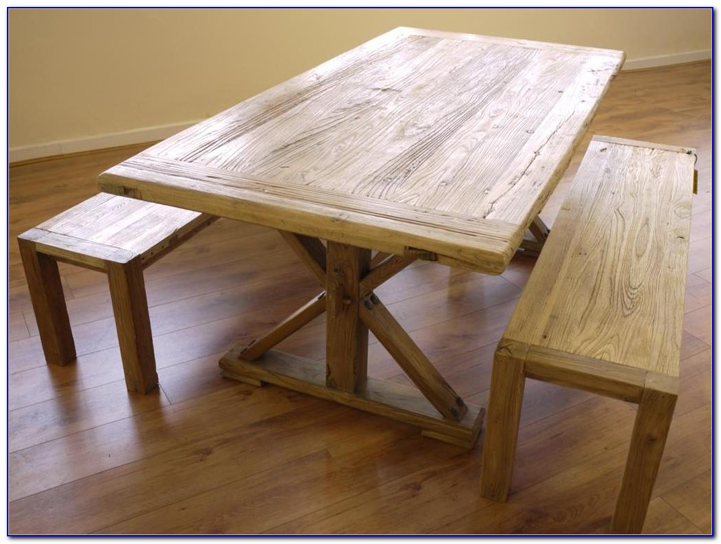 Dining Table With Bench Against Wall