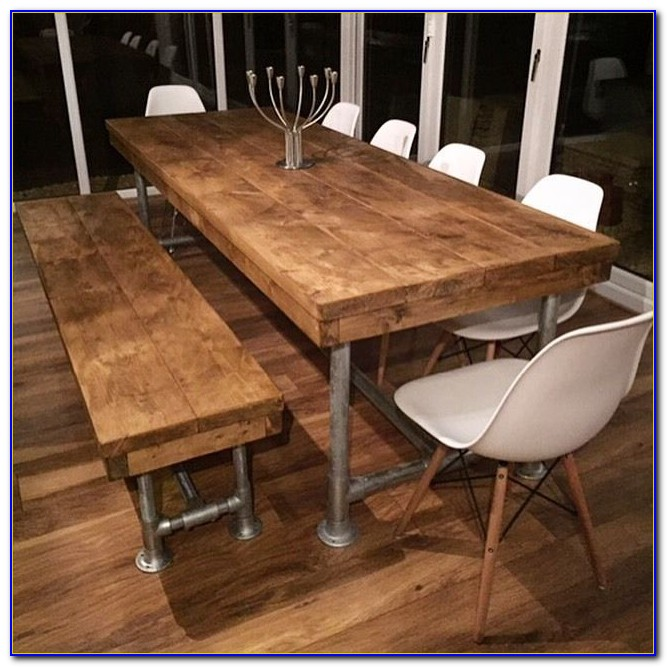 Dining Table With Bench On One Side