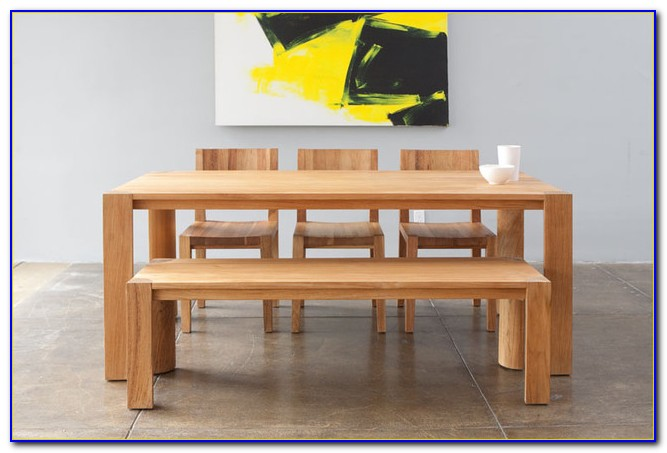 Dining Table With Bench With Back