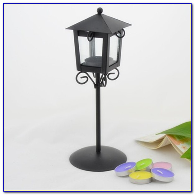 Floor Standing Candle Holders Black