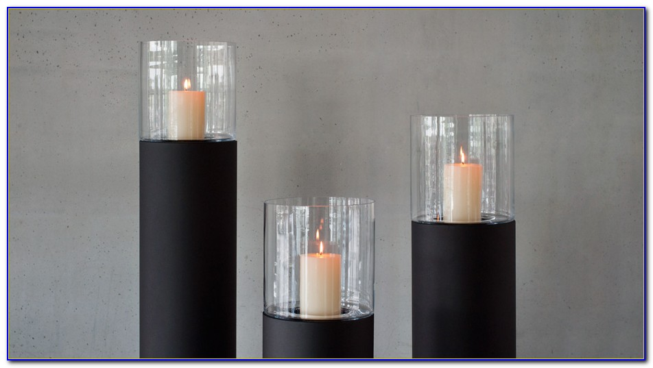Floor Standing Pillar Candle Holders