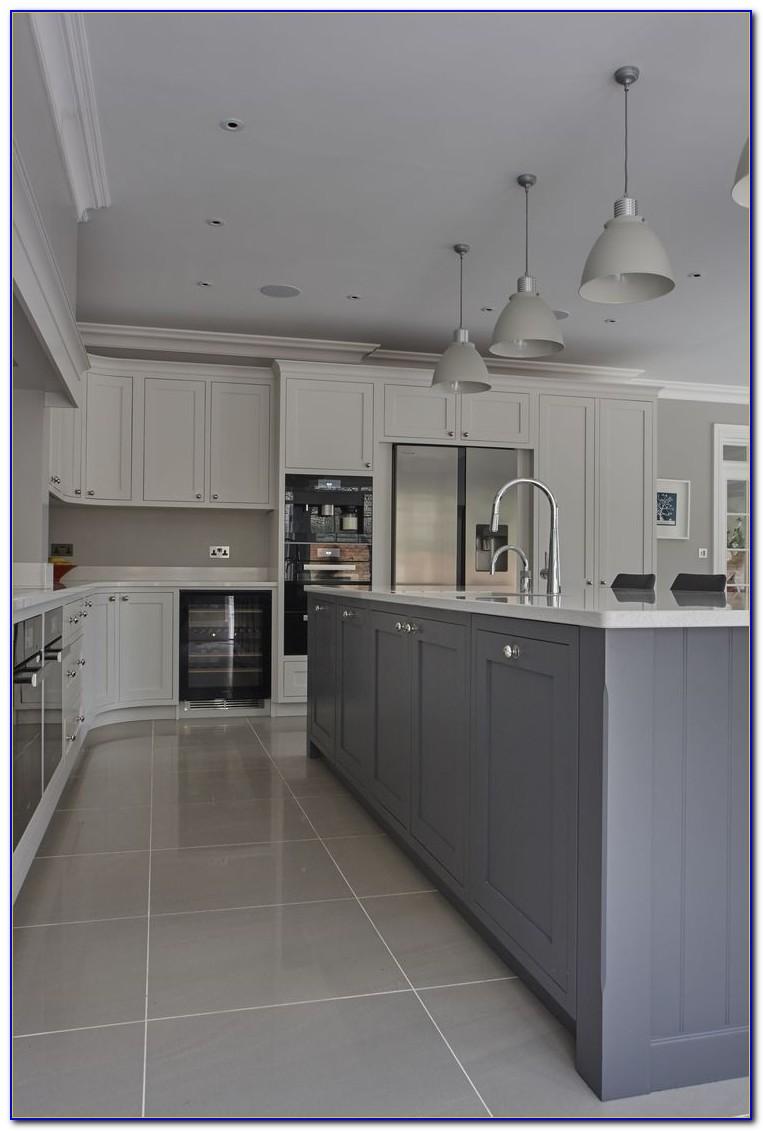 Grey Wood Tile Kitchen Floor