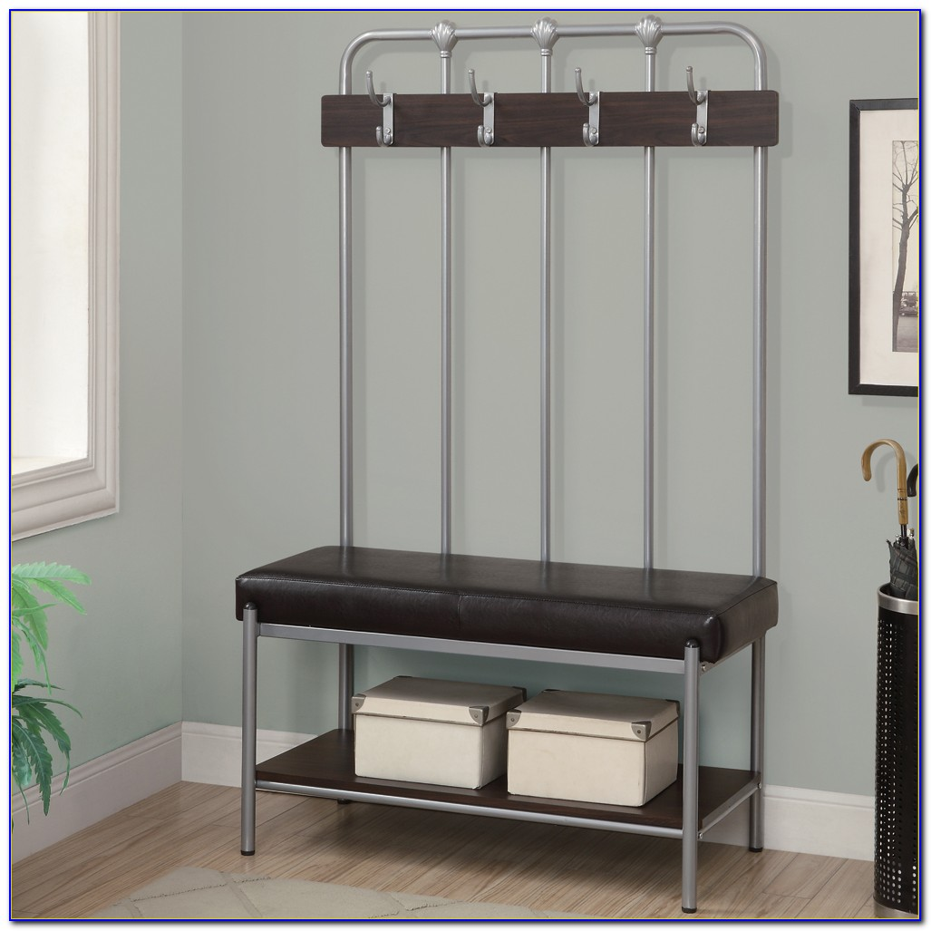 Hall Stand Entryway Coat Rack And Storage Bench