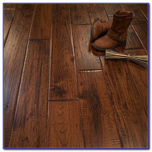 Hand Scraped Solid Hickory Hardwood Flooring