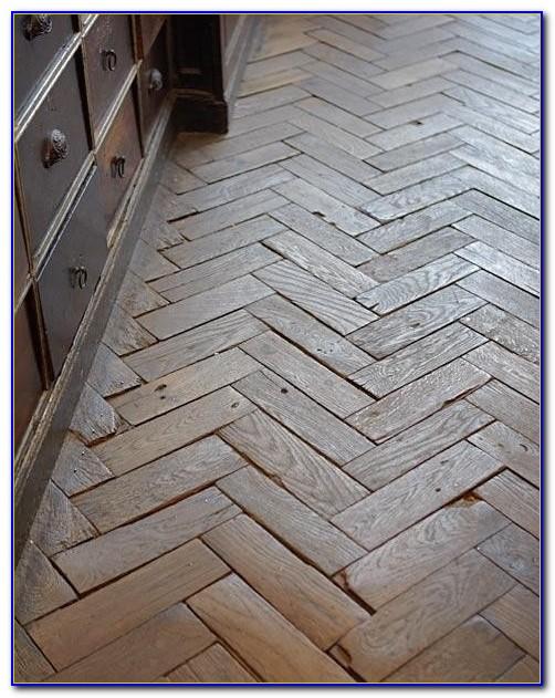 Herringbone Pattern Wooden Flooring