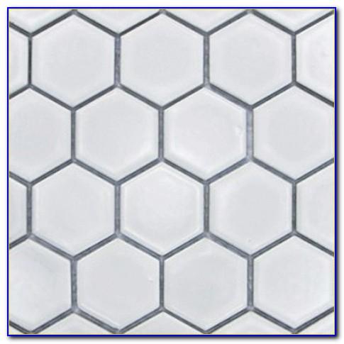 Hexagon Mosaic Bathroom Tiles