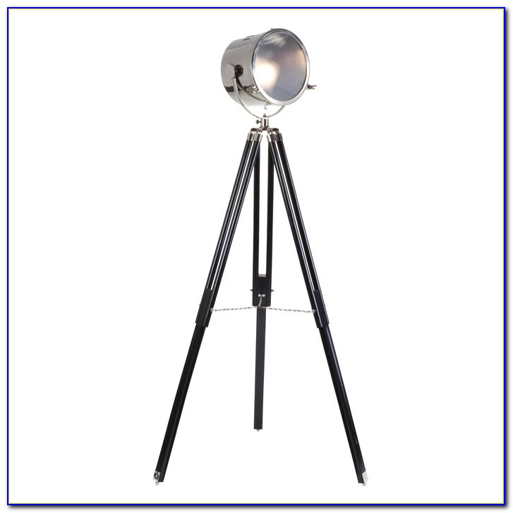 Industrial Adjustable Studio Tripod Floor Lamp