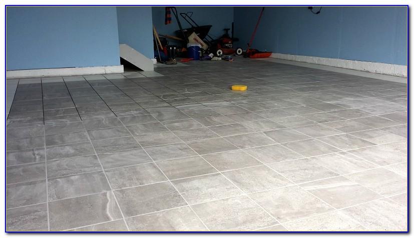 Installing Porcelain Tile On Concrete Garage Floor