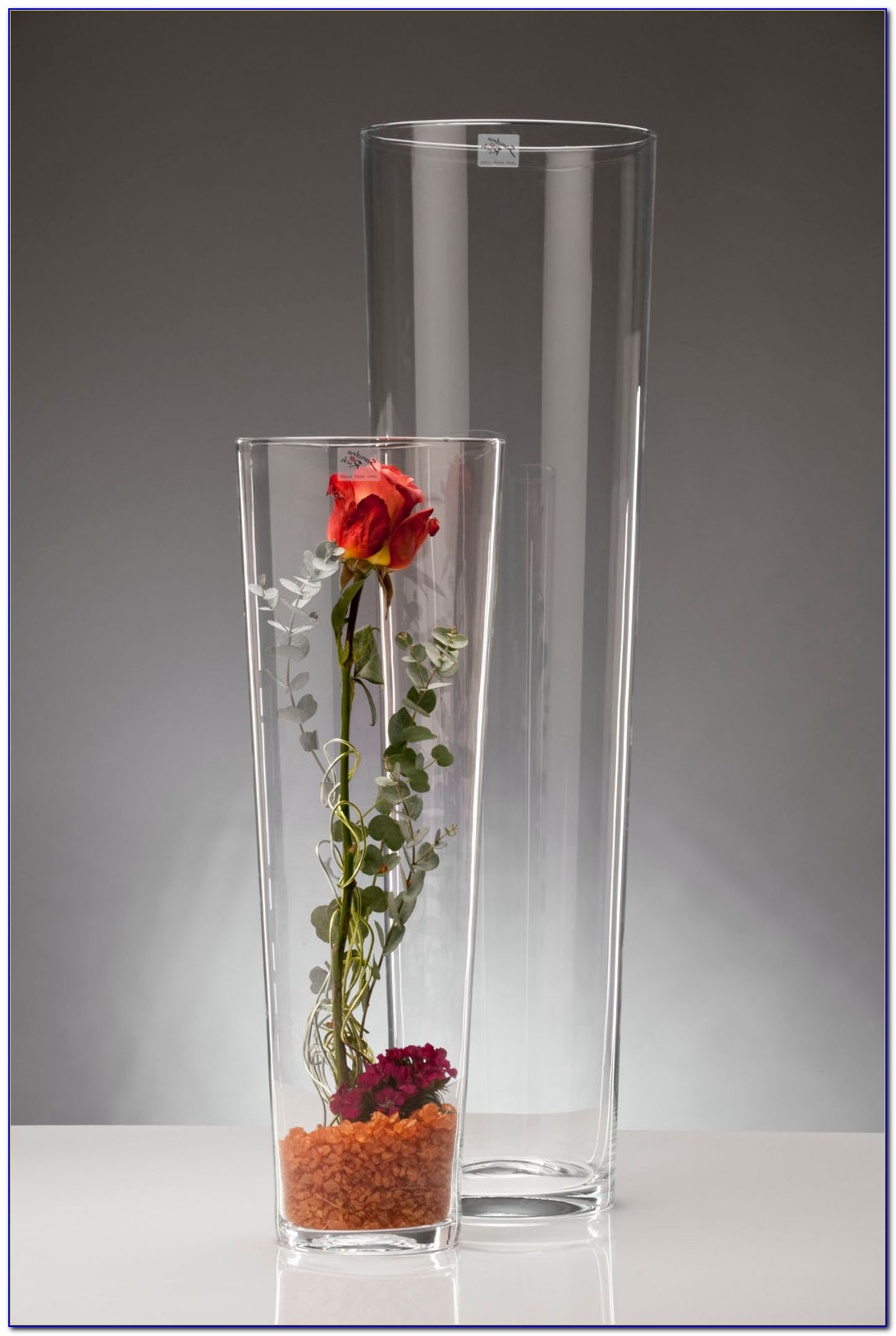 Large Glass Floor Standing Vases