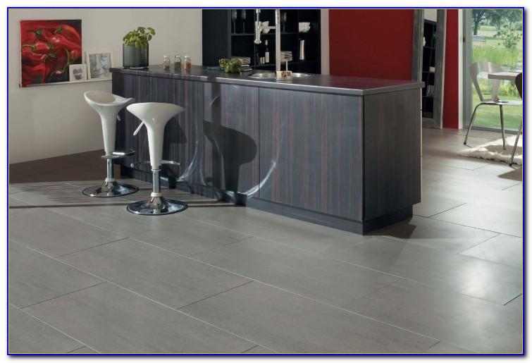 Large Grey Tile Kitchen Floor