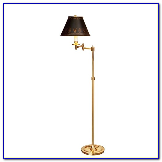 Malone Brass Swing Arm Floor Lamp