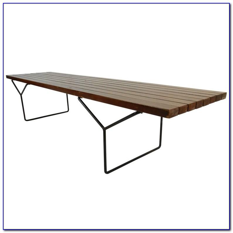 Mid Century Expandable Slat Bench