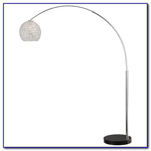 Misty Arc Floor Lamp With Crystal Shades