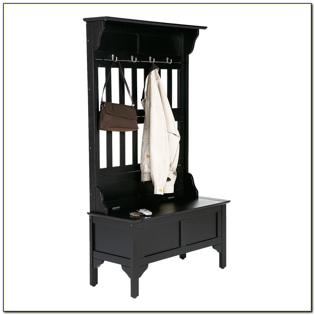 Naples Hall Stand Entryway Coat Rack And Storage Bench