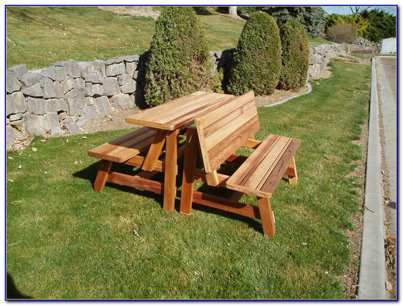 Picnic Table Benches With Backs
