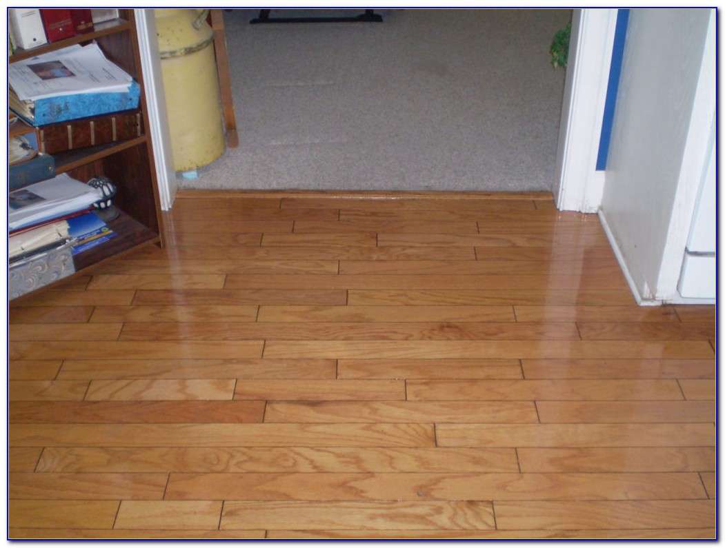 Sanding A Hardwood Floor With A Buffer
