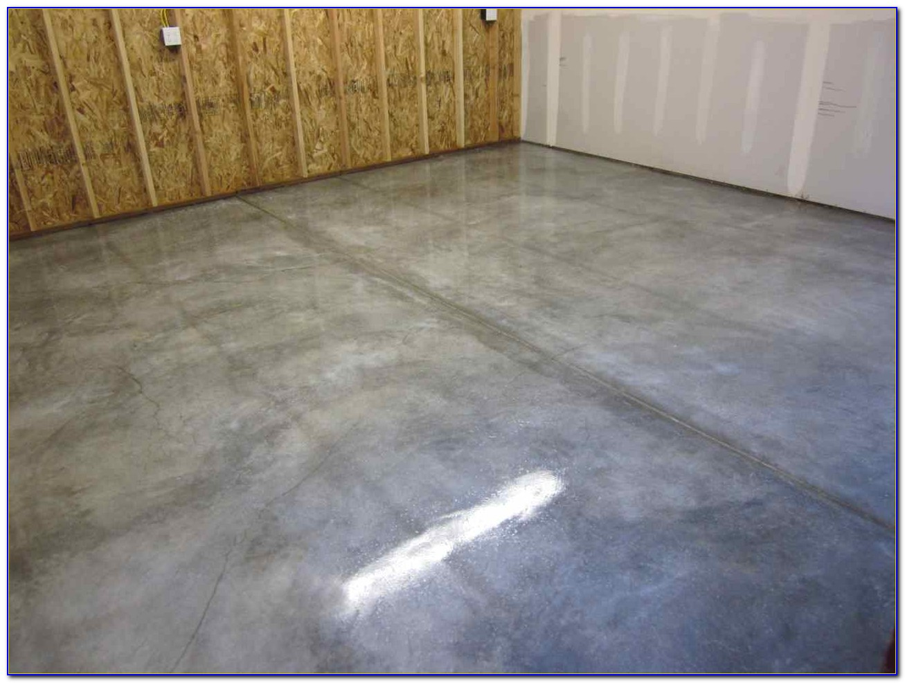 Sealing A Garage Floor With Pva