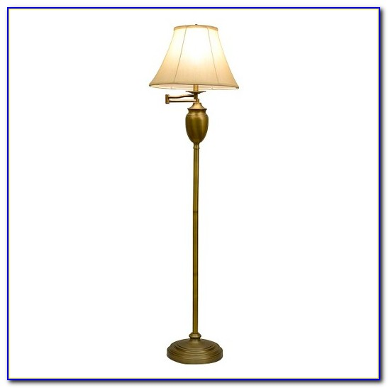 Solid Brass Swing Arm Floor Lamp